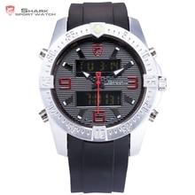 Nouveau SHARK Sport Montre Mode Noir Numérique D'alarme de Date Chronomètre En Caoutchouc Bande Mâle Étanche Quartz Hommes Marque Horloge/SH375