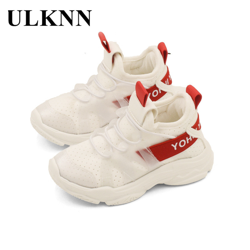 ULKNN Girls Running Shoes 2018 Summer New Kids Sneakers Boys Breathable School Casual Shoes Soft Bottom Sport Children Sneakers