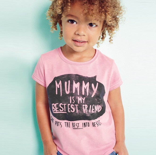 2016 new summer baby girls funny t shirt Cotton letter printing ...