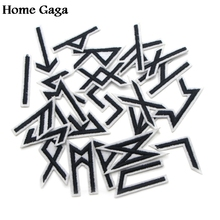 ФОТО homegaga vikings runes 24pcs applique patches stickers pour sewing bag jersey clothing para clothes badges iron on tshirt  d0947