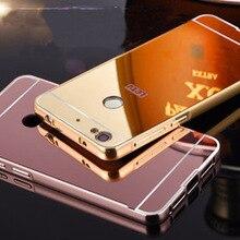Для leeco пусть v 1 s x501 мобильного case роскошные броня гибридный алюминиевый металлический Каркас Зеркало Жесткий Вернуться Чехлы Для Letv1s 1 S X500 fn508