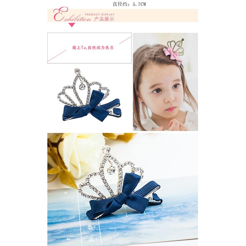 New Arrival Details Headdress Crystal Crown Baby Kids Girls Children Shiny Princess Rabbit Ears Hair Clip Top Headdress Headwear in Hair Accessories from Mother Kids