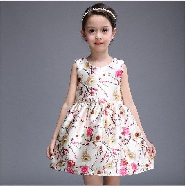 d5ee24a3673d 2018 Spring Summer New Little Girls Floral Princess Vest Dress ...