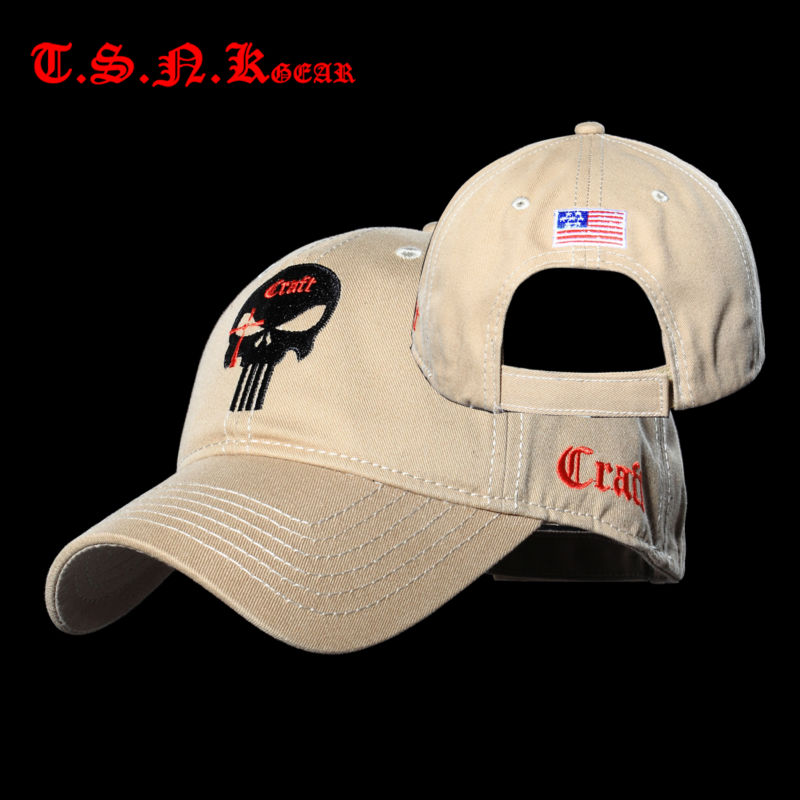 Wholesale Tsnk Cotton Tactical Baseball Caps Seal Punisher