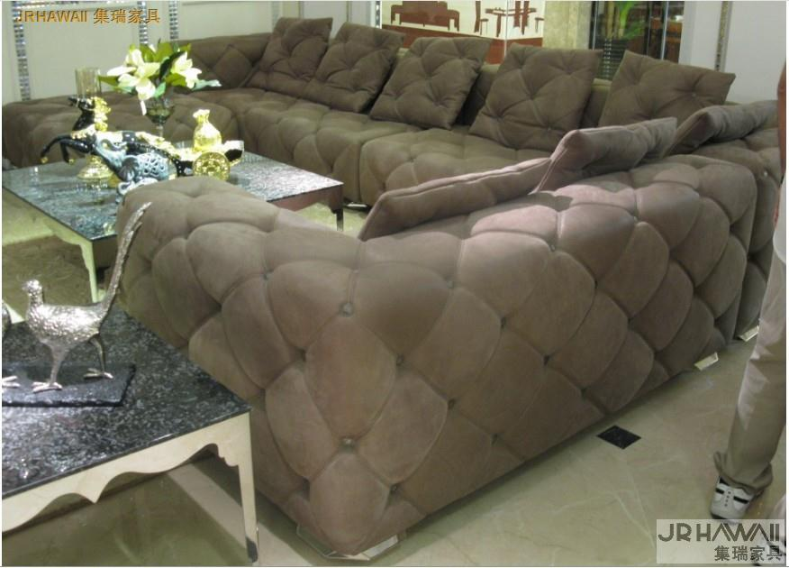 Sofa-Set Couch Chesterfield Home-Furniture Living-Room Sectional/corner-Sofa-Set Full-Leather