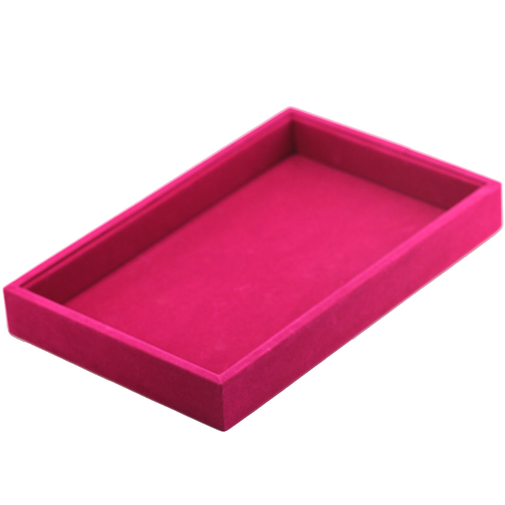 MMS 6Colors Velvet Cufflinks Necklace Jewelry Display Box for Business Show 1.1x8.66x5.7 inch Gift Packing