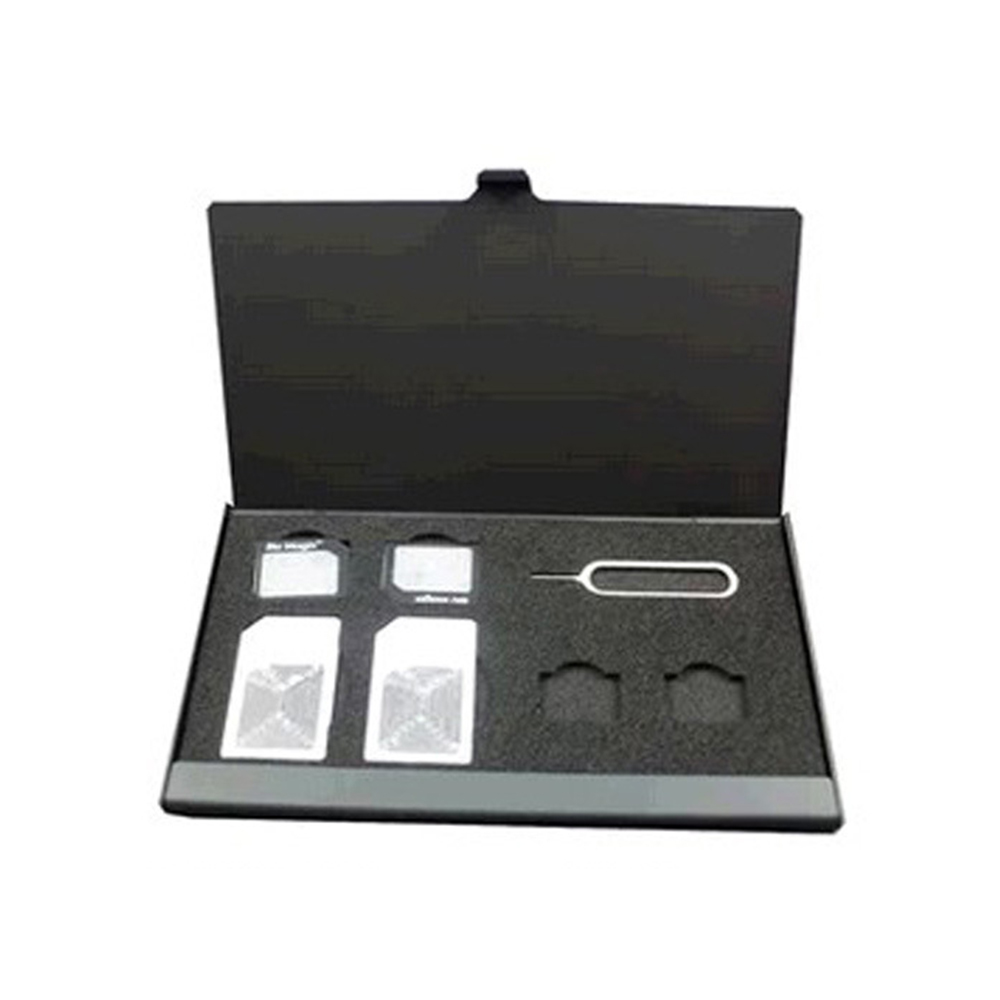 21 En 1 Aluminio Sim Micro Pin Tarjeta Sim Nano De Memoria Tarjeta De Almacenamiento Caja De La Caja Negro Jade Blanco