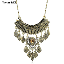 Naomy&ZP Maxi Necklace For Women Statement Coin Vintage Necklace Collar Bohemian Tassel Big Large Long Necklace Fashion Jewelry