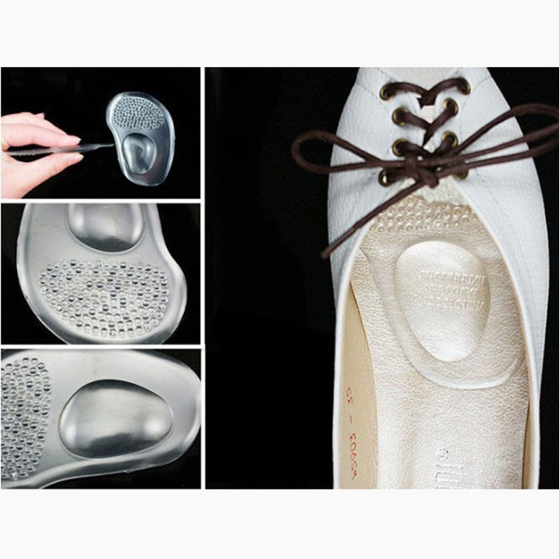 Soft Silicone Femal Gel Ball Foot Cushion Insoles Metatarsal Support Insert Pad Shoes стоимость