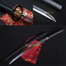Full Tang Battle Ready 100% Handmade Sharp Musashi Real T10 1095 Carbon Spring Steel Japanese Samurai Katana Ninja Sword #BCG