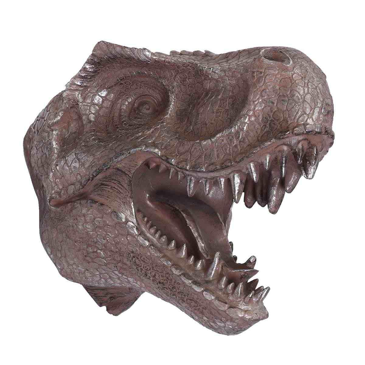 Динозавр голова настенная вешалка большой Юрский искусственный T Рекс Динозавр голова крюк на стену скульптура для домашнего декора