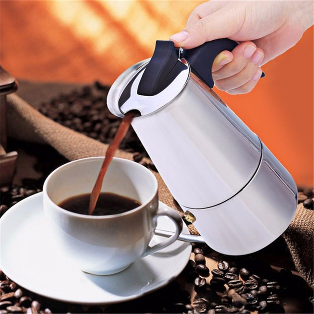 High Quality 2/4/6/9 Cups Coffee Maker Pot for Household Stainless Steel Moka Espresso Coffee Latte Percolator Stove Coffee Pots