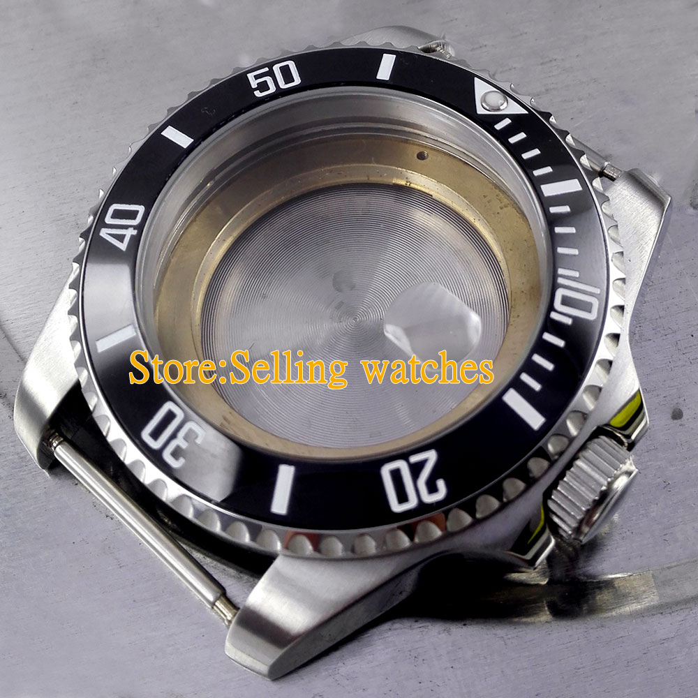 43mm Stainless Steel sapphire glass Watch Case for ETA 2836 Movement C09 rotor ball bearing press tool for eta 2836 2671 new for watch repair