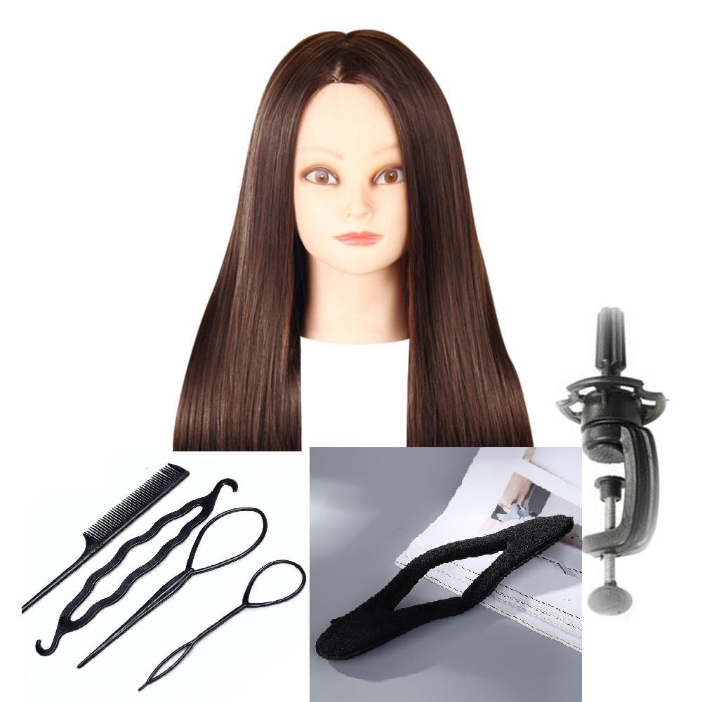 CAMMITEVER ब्राउन हेयर HairMannequin हेड 2 - कला, शिल्प और सिलाई