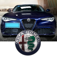 1pcs silvery Color 74mm 7.4cm for ALFA ROMEO giulietta Stelvio diamond Car Logo emblem Badge sticker for Mito 147 156 159 166