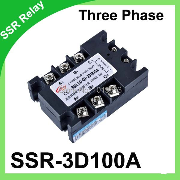 Factory Supply DA 100A Solid State Relay 3-phase da ssr 100a normally open single phase solid state relay ssr mgr 1 d48120 120a control dc ac 24 480v