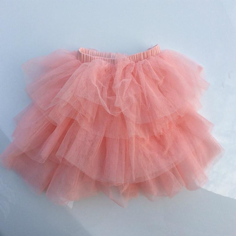 Del Color del caramelo niños Girls Ballet danza falda de tul de ...