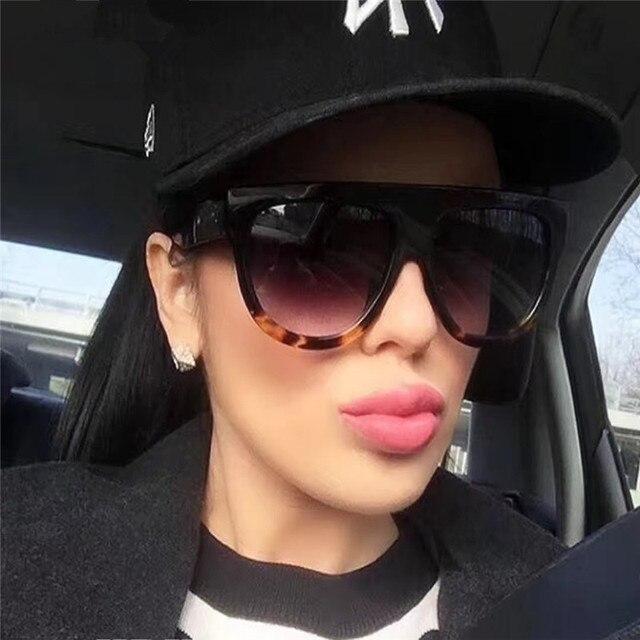 DJXFZLO 2018 Gafas de sol de moda de mujer de marca de diseñador de lujo Vintage Gafas de sol de gran marco completo Gafas de mujer Gafas
