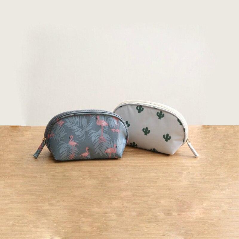 Bag Makeup-Bag Cosmetic Travel-Organizer Flamingo Beauty Portable Women Multifunctional