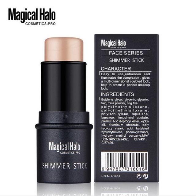 Magical Halo 2 Color Face Contouring Makeup Shimmer Stick Highlighter Stick Pen Brighten Skin 3D Face Bronzer Highlighter Powder