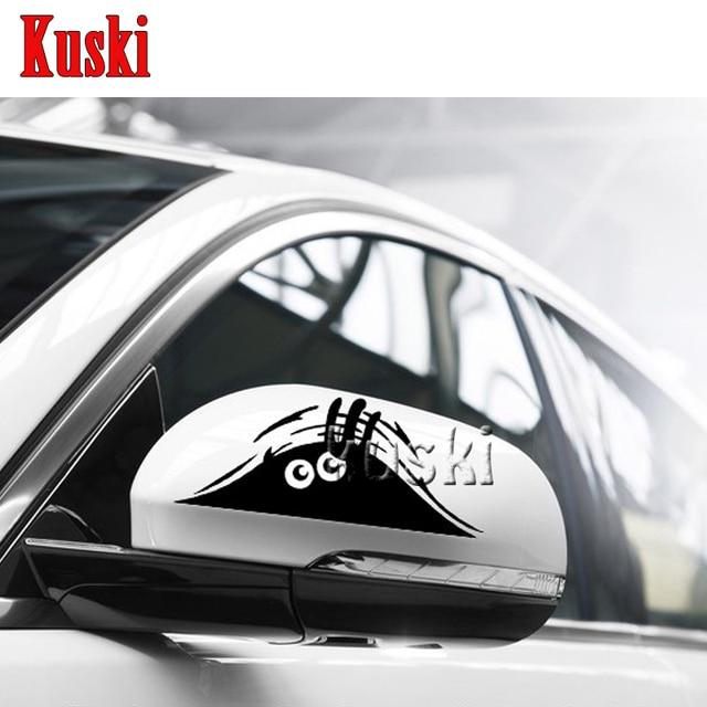 Funny peeking monster car stickers for opel astra h j g insignia mokka corsa d vectra c zafira