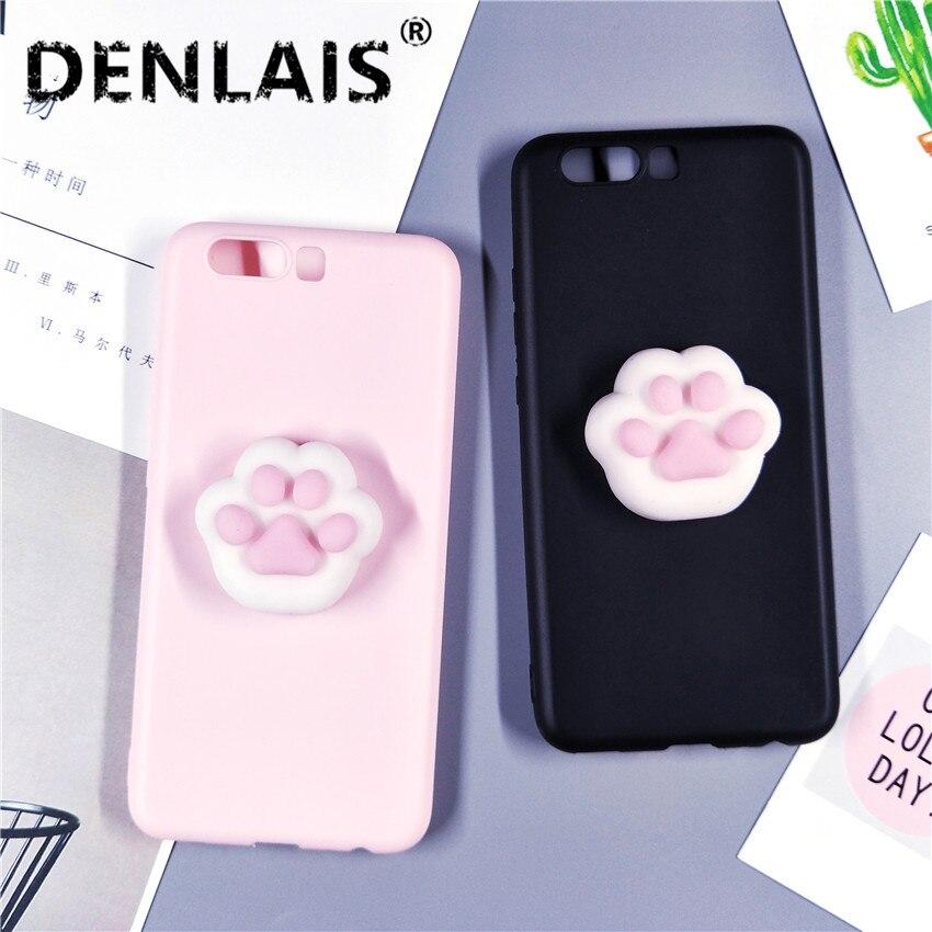 Cute 3D Black Pink Silicon Squishy Cat Paw Soft <font><b>Phone</b></font> <font><b>Case</b></font> For Samsung <font><b>Galaxy</b></font> A3 A5 A7 <font><b>J3</b></font> J5 J7 Fundas Soft TPU <font><b>Phone</b></font> Cover Capa