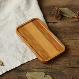 Image 3 - Mini Storage Tray Bamboo Saucer Circular Rectangle Square Small Plate for Food Candy Snacks Photo Studio Photography Background