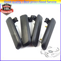 4PCS Exterior Door Handle Front Rear Left Right Black 6922016091 6923016090 6924016090 6921016091 For 1995-1998 Toyota Tercel