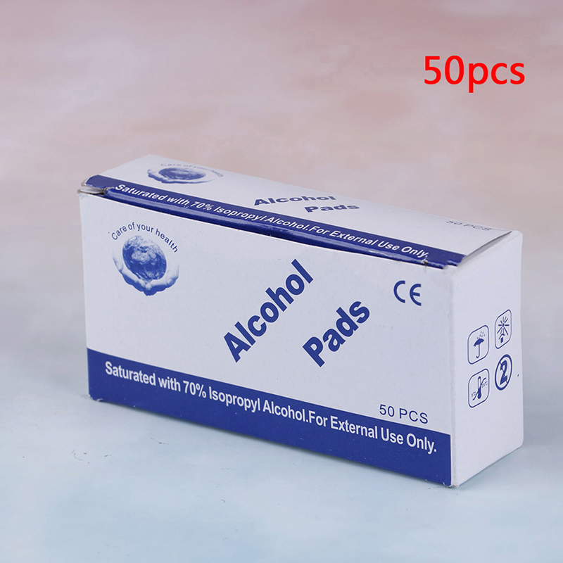 Image 3 - 50/100pcs Alcohol Wipe Pad Nail Art Medical Swab Sachet Antibacterial Tool Cleanser RemoverCotton Swabs