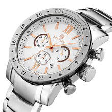 Top luxury Brand 2303 Men Business Watch Military Auto Date Watches Stainless Steel Water Resistance Wristwatches