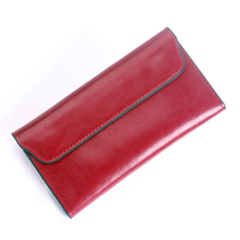 Women Wallet Genuine Leather Bag Female Purse Card Holder Long Slim Coins Purse Women Clutch Cowhide Vintage Envelope Wallet цена