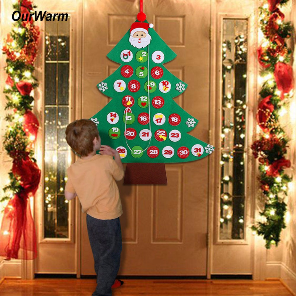 Fengrise Diy Felt Christmas Tree Kids Artificial Tree Ornaments Christmas Stand Decorations Gifts New Year Xmas Decoration Us 12 73 45 Off Ourwarm Date 1 31 Felt Advent Calendar New Year Decoration Christmas Tree Countdown Calendar Hanging Ornaments New Year Gifts In