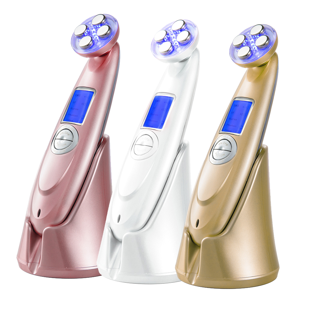 Ultrasonic Massage Skin Care LED Photon Facial Deep Cleaning Face Lift Acne Removal Spa Anti Aging Wrinkle Beauty Machine free shipping 3mhz ultrasonic ultrasound facial skin lift anti aging photon led therapy care