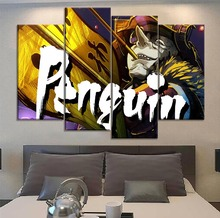 Living Room Or Bedroom Wall Picture 4 Piece Modern Artwork Canvas Print Movie Batman Ninja Oswald Cobblepot Penguin Painting