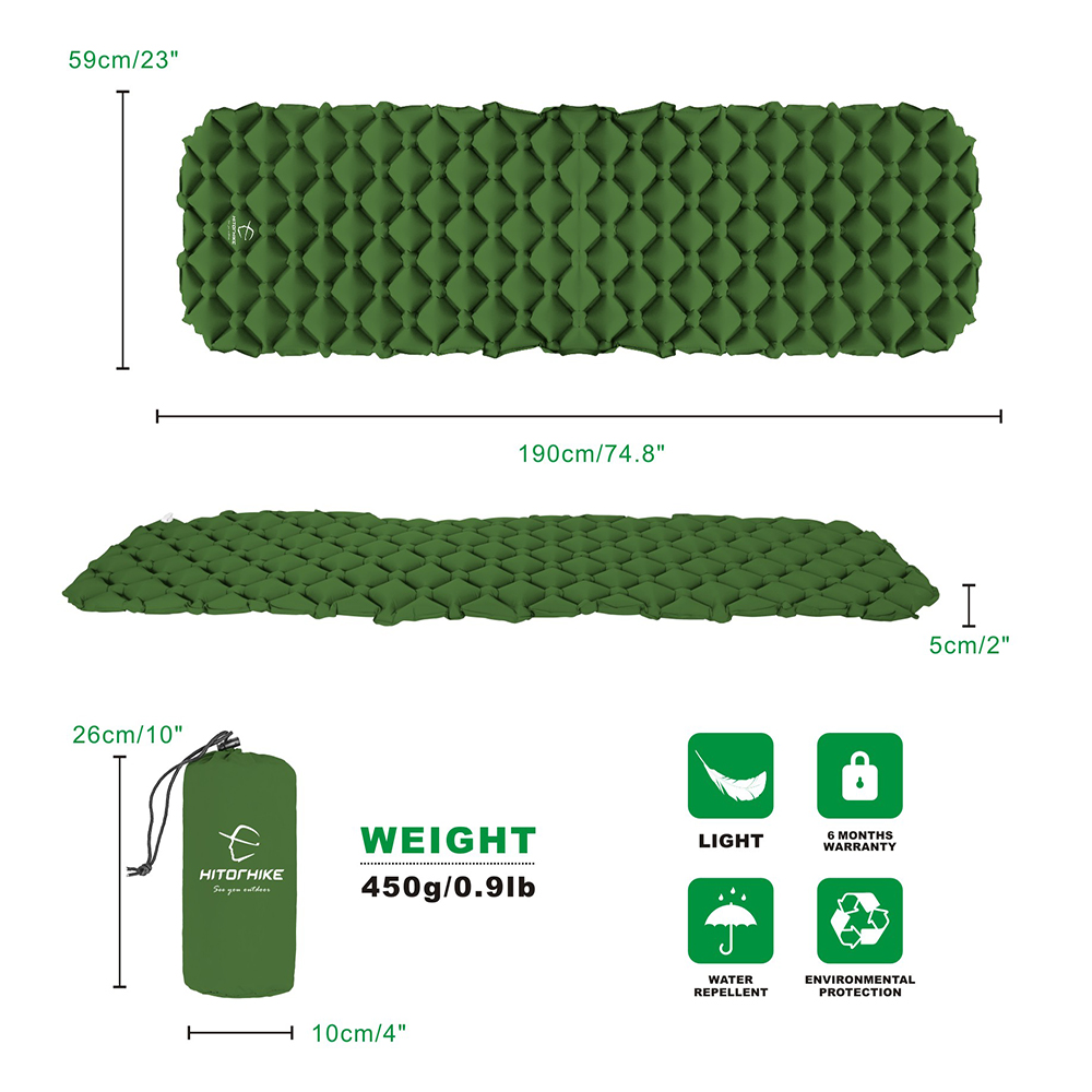 Inflatable sleeping pad 3.3