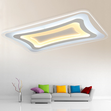 Acrylic White LED Chandelier Lighting Fixture Remote Control