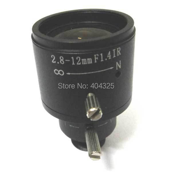 1/3'' 2.8mm-12mm Manual Focal Zoom MTV CCTV Lens for Security Camera Lense удлинитель zoom ecm 3