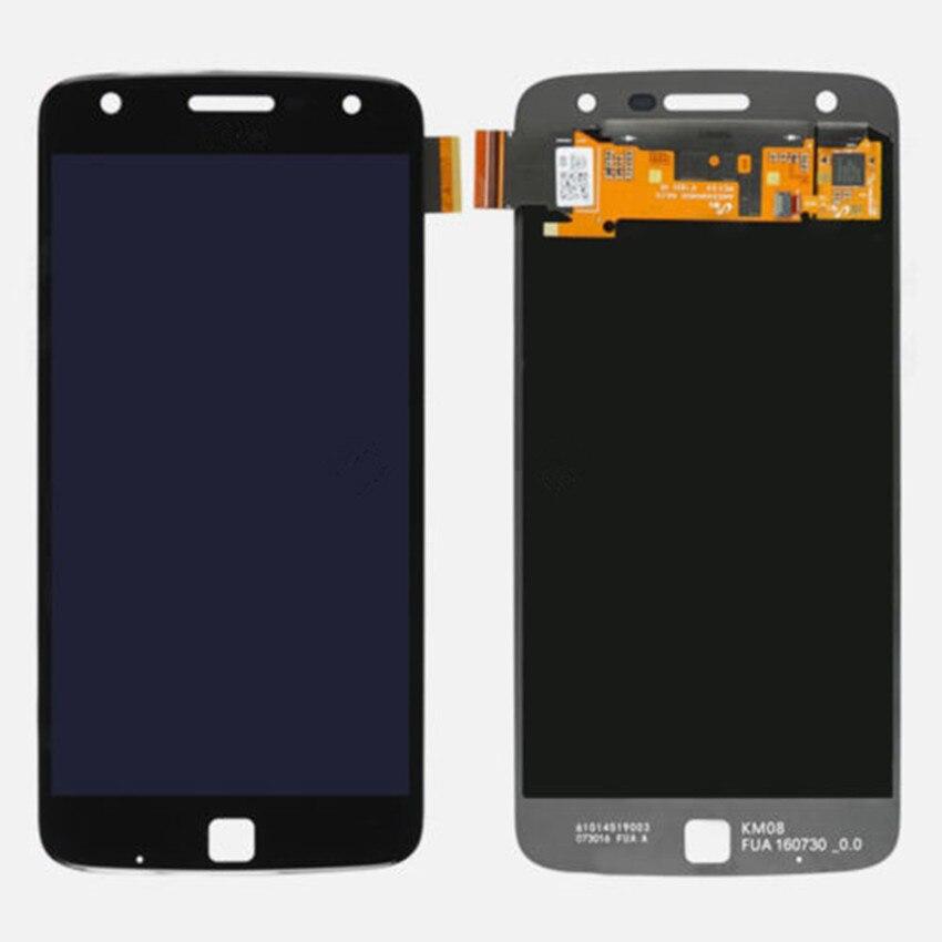 все цены на  Black White New LCD Display Digitizer Screen Replacment For Motorola Moto Z Play Droid XT1635 free shipping  онлайн