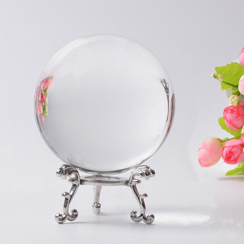 60 70 80mm fotografía bola de cristal ornamento FengShui globo Divination cuarzo bola de cristal mágico decoración del hogar esfera de cristal