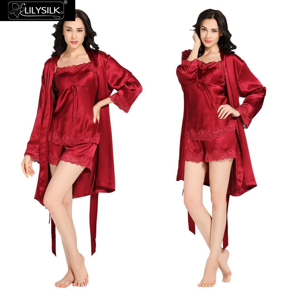 1000-claret-22-momme-short-lacey-silk-camisole-&-dressing-gown-set