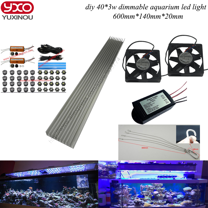 Dimmable 120W diy aquarium led lights for coral reef growing for Coral Reef and Aquatic,aquarium light led free shipping леска onlitop feeder line цвет коричневый 100 м 0 28 мм 6 6 кг