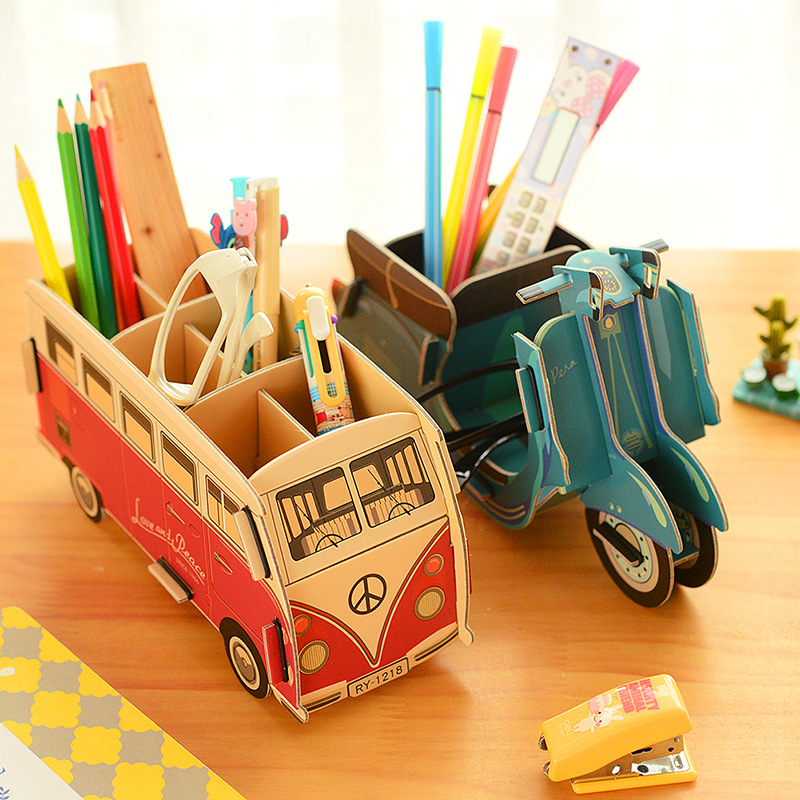 Kawaii multifunction diy pen holder pens stand pencil Diy pencil holder for desk