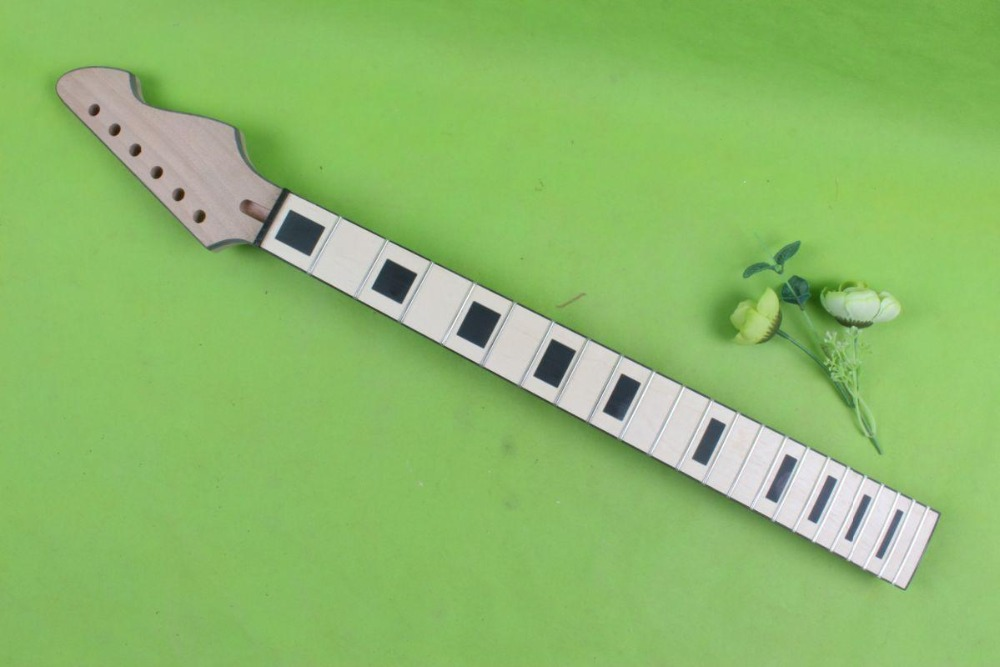 new 1pcs Guitar Neck Maple Wood Mahogany 22 fret 25.5 head stock #006 1x electric guitar neck mahogany maple wood fretboard truss rod 22 fret 25 5