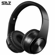 SAZ Bluetooth наушники бас Спортивные Поддержка TF AUX с микрофоном для ПК мобильный телефон Портативный Гарнитура best