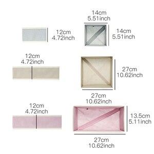 Image 2 - 6 adet yeni Nonwoven saklama kabı katlanabilir çekmece içi bölme aparatı kapaklı dolap kutusu için bağları çorap sutyen iç çamaşırı giyim organizatör