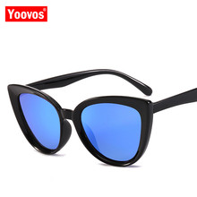 Yoovos 2019 Cat Eye Mirror Sunglasses Women Vintage Classic Metal Glasses Street Beat Shopping Fashion Oculos De Sol Gafas UV400