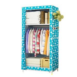 Image 2 - En venta, armario pequeño más barato, armario de tela individual, armario portátil plegable, armario de almacenamiento de ropa, muebles para el hogar