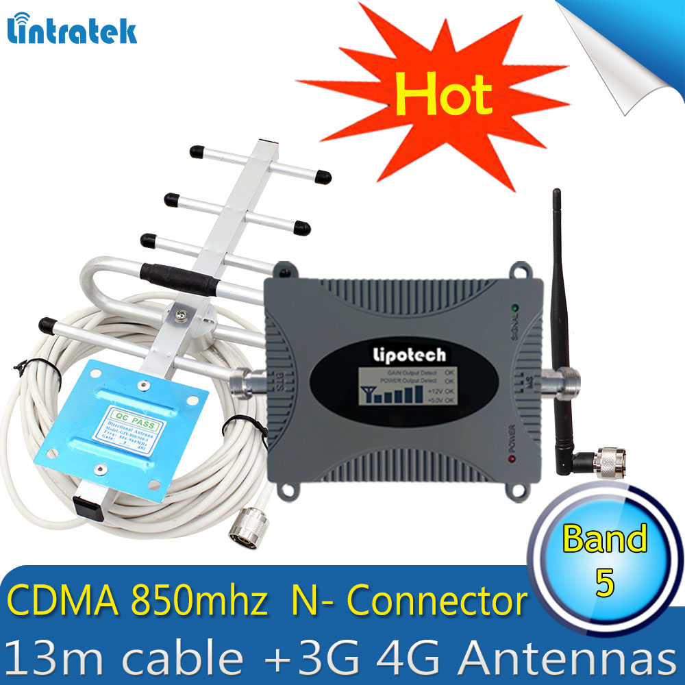 Lintratek CDMA UMTS 850mhz 3G Repetidor Sinal Celular 3G  850MHz (Band 5)Cell Phone Signal Booster 3G Amplifier