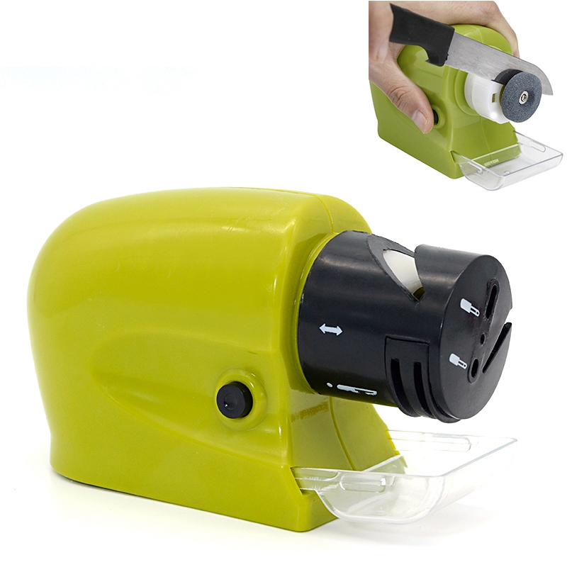 kitchen Multifunctional Motorized Rotary Whetstone Knife Electric Professional Stone Sharpening Tool Sharpener(China)
