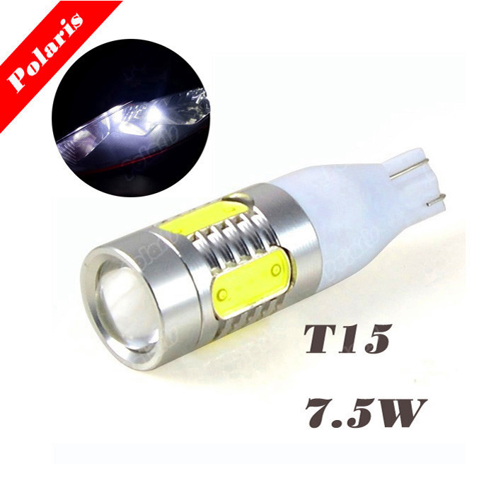 High Quality T15 7.5W ob Light source Power Auto 5 LED Signal Turn Braking Light Reverse Bulb DC 12V White
